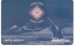 Greece-Casino Syros Member Card - Casinokarten