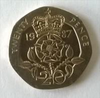 Monnaie - Grande-Bretagne - 20 Pence 1987 - - 1971-… : Monnaies Décimales
