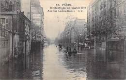 PARIS - INONDATIONS DE 1910 - Crue De La Seine : Avenue Ledru-Rollin - CPA - Seine ( SNCF ) - Alluvioni Del 1910