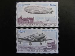Saint Pierre Et Miquelon: TB Paire PA N°66 Et 67, Neufs XX. - Poste Aérienne