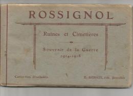 BEL.0059/ Rossignol - Carnet 10 Cartes + 2 Pages D'histoire Du Village - Bélgica