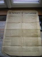 RARE JOURNAL  LE PATRIOTE DE CHATEAUDUN  N° 319  DIMANCHE 29  OCTOBRE 1882 - Kranten