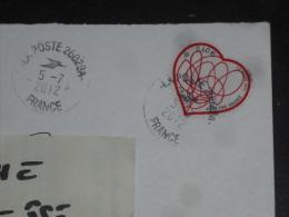 PARIS EUROPE PPDC - CACHET ROND MANUEL CODE ROC 26028A SUR YT ADHESIF 649 COEUR SAINT VALENTIN ADELINE ANDRE - Manual Postmarks