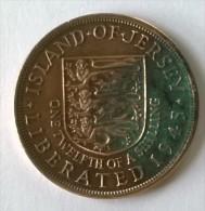 Monnaie - Jersey -  1/12 Shilling 1945 - - Jersey