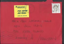 USA Airmail 1985 ADMIRAL CHESTER W. NIMITZ Postal History Cover Sent To Pakistan - Brieven En Documenten