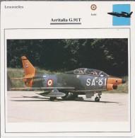 Vliegtuigen.- Lesvliegtuig. Lestoestel. Aeritalia G.91T -. 2 Scans - Vervoer