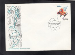 POLAND, 1993 FDC  ## - Skisport