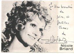 L25b 10 - Carte Dédicacée Nicole Briard - Artistes