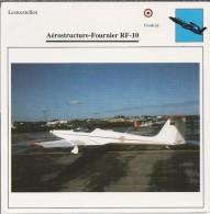 Vliegtuigen.- Lesvliegtuig. Lestoestel. Aerostructure-Fournier RF-10 -. 2 Scans - Vervoer