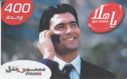 SYRIA - Man On Phone, SyriaTel Prepaid Card 400 SP, Used