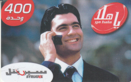 SYRIA - Man On Phone, SyriaTel Prepaid Card 400 SP, Exp.date 31/12/06, Used - Syria