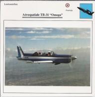 Vliegtuigen.- Lesvliegtuig. Lestoestel. Aerospatiale TB-31 - Omega - 2 Scans - Vervoer