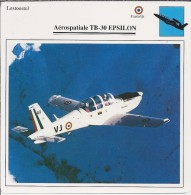 Vliegtuigen.- Lesvliegtuig. Lestoestel. Aerospatiale TB-30 - EPSILON - 2 Scans - Vervoer