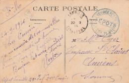 """Lanilis ( Finistère ) Cachet Militaire  Service Postal """" DEPOTS """" Sur Cpa  Guisseny"""