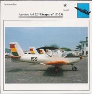 Vliegtuigen.- Lesvliegtuig. Lestoestel. Aerotec A-122 - Uirapuru - T-23 - 2 Scans - Vervoer