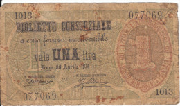 1 UNA 1874 ( Visitenkarten - Grösse ) - Italien