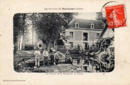 Environs De MARTIZAY. Le Moulin De La Roche Sur La Claise. (enfants, Ouvriers, Femme, Chien. Animation). - Otros Municipios