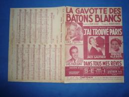 40 60 PARTITION POPULAIRE RUE RECUEIL LA GAVOTTE DES BÂTONS BLANCS POLICE FAYOL MARIANO GAUTHIER FRANCIS BLANCHE HUMEL - Autres