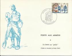 """Courbevoie - Journée Du Timbre 1971 - Document Philatélique """"Poste Aux Armées"""" - Marcophilie (Lettres)"""
