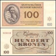 Deutschland, Germany - Set 1 - 100 Kronen, Lagergeld - KZ Theresienstadt, 1943, UNC ! - [ 4] 1933-1945 : Third Reich