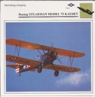 Vliegtuigen.- Lesvliegtuig. Lestoestel. Boeing STEARMAN Model 75 KAYDET - 2 Scans - Vervoer