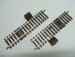 Jouef - 2 RAILS DROITS DE COUPURE 123,5 Mm Maillechort Réf. 4852 Ou 485200 HO 1/87 - Gleise