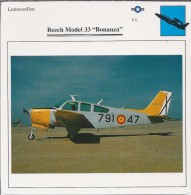 Vliegtuigen.- Lesvliegtuig. Lestoestel. Beech Model 33 - Bonanza - 2 Scans - Vervoer