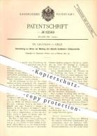Original Patent - Fr. Grotkass In Celle , 1895 , Uhr , Uhren , Wecker , Uhrwerk , Glocke , Klingel , Uhrmacher , Zeit !! - Historische Dokumente