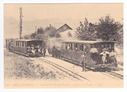 REPRODUCTION TRAIN VOIR DOS 73 Environs Aix Les Bains CF Crémaillère Du Revard Gare De Pugny Chatenod KM 3.3 - Aix Les Bains