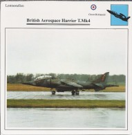 Vliegtuigen.- Lesvliegtuig. Lestoestel. British Aerospace Harrier T.Mk4 - 2 Scans - Vervoer