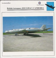 Vliegtuigen.- Lesvliegtuig. Lestoestel. British Aerospace - EECO/BAC - CANBERRA - 2 Scans - Vervoer