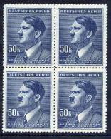 BOHEMIA & MORAVIA 1942 Definitive 50 K. Block Of 4 MNH / **.  Michel 110 - Bohemia & Moravia