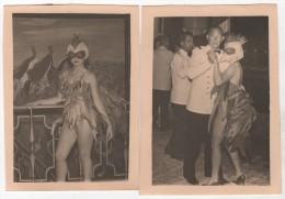 Photo originale Marine le Paquebot Pierre LOTI des Messageries maritimes lot de 2 belle Femme d�guis�e en poule fresque