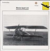 Vliegtuigen.- Lesvliegtuig. Lestoestel. Blériot-Spad S.42 - 2 Scans - Vervoer