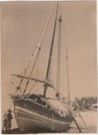 Photo originale Marine Bateau voilier boutre