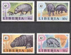 Liberia 1984 - MNH - Hippo, WWF - Francobolli