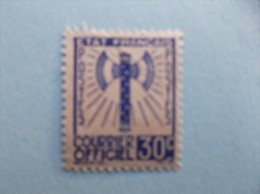 1943 : TIMBRE De SERVICE : No.2  , 30c Bleu X, Très Légére Adhérence - Service