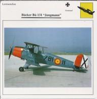 Vliegtuigen.- Lesvliegtuig. Lestoestel. Bücker Bü 131 - Jungmann - 2 Scans - Vervoer