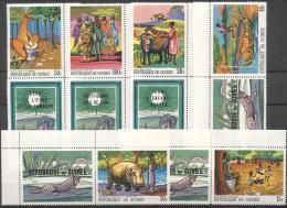 Guinea 1968 - MNH - Folklore / Fables, Hippo, Kangaroo, Leopard - Francobolli