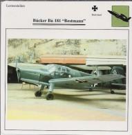Vliegtuigen.- Lesvliegtuig. Lestoestel. Bücker Bü 181 - Bestmann - 2 Scans - Vervoer