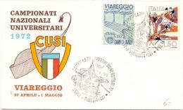 CAMPIONATI NAZIONALI UNIVERSITARI 1972 VIAREGGIO  CUSI (F160026) - Francobolli
