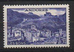 P460.-. FRENCH ANDORRE .-. 1955-1958 - SC #: 142 . MVLH .-.  VILLAGE OF LES BONS .-.SCV: US$ 50.00