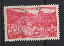 P461.-. FRENCH ANDORRE .-. 1955-1958 - SC #: 139 . MVLH .-.  VILLAGE OF LES BONS .-.SCV: US$ 4.00