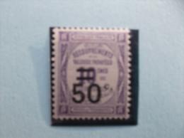 1926 : TIMBRE TAXE : No.51 , 50c/10c Violet X X, En Trés Bon état - 1859-1955 Nuovi