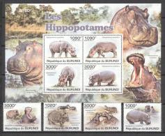 Burundi 2011 - MNH - Hippo - Francobolli