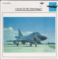 Vliegtuigen.- Lesvliegtuig. Lestoestel. Convair TF-102 - Delta Dagger - 2 Scans - Vervoer