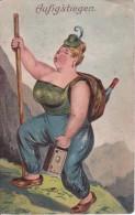 AK Aufig'stiegen - Bergsteigen - Humor - Prägekarte (21276) - Climbing