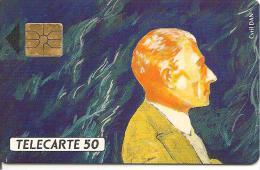 CARTE°-PUCE-PRIVEE-PUBLIC-50U-EN397-GEMA-07/92-ARSENAL -RAVEL-R°Laqué-UTILISE-TBE - Francia