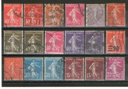 Lot Semeuses Oblitérés_avec De Belles Nuances - 1906-38 Sower - Cameo