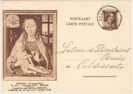 N° 31 - EXPO MEMLING 1939 - BRUGES - Oblit. GERPINNES >> CUL Des SARTS - Entiers Postaux